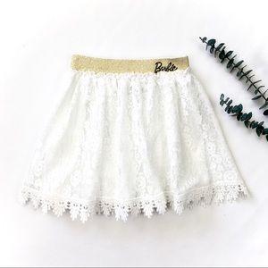 4-5T Crochet Lace Barbie Skirt